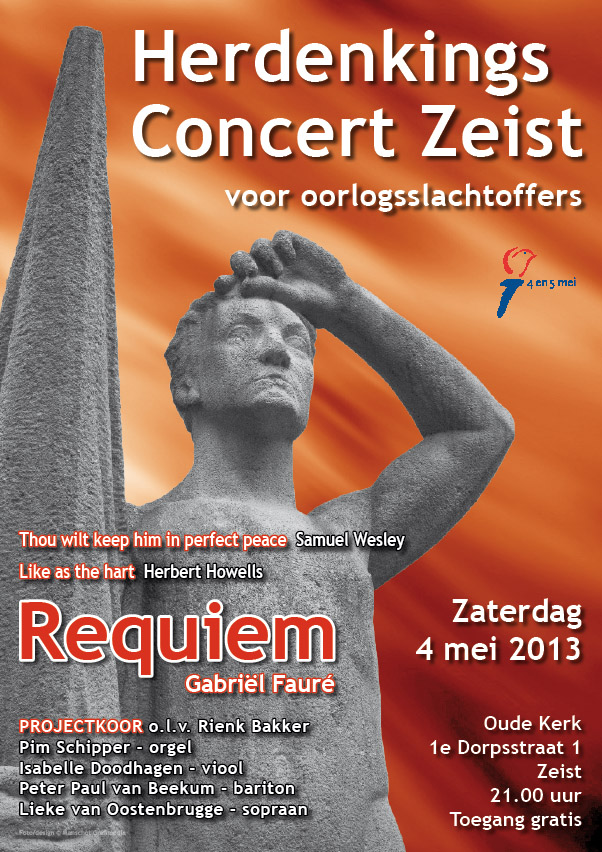 Poster herdenkingsconcert 04-05-2013